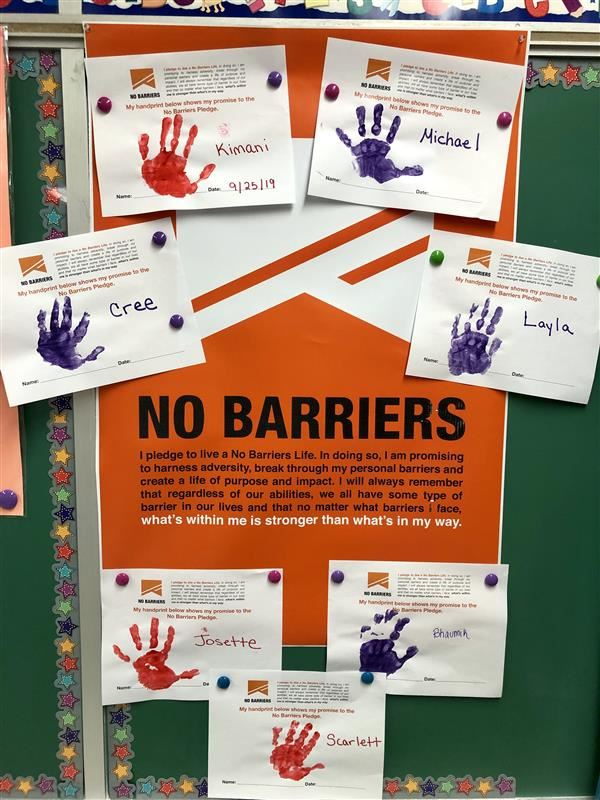 Preschoolers take the No Barriers Pledge