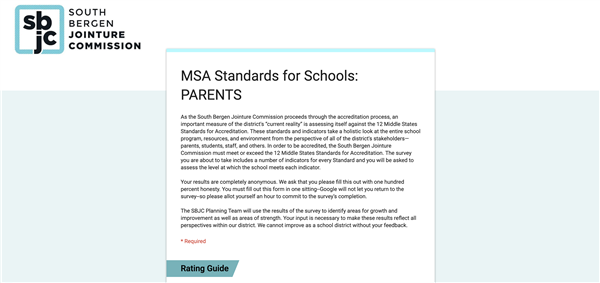 SBJC Middle States Parent Survey is Open