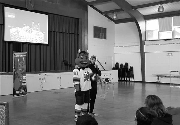 New Jersey Devils Healthy Hat Trick Program Visits Lodi Campus